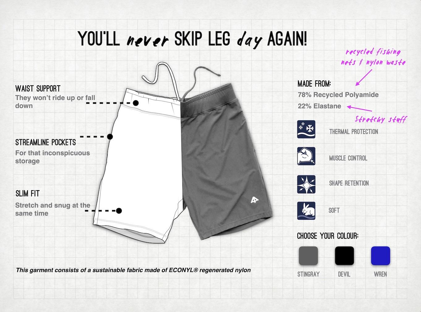 sustainable men's shorts