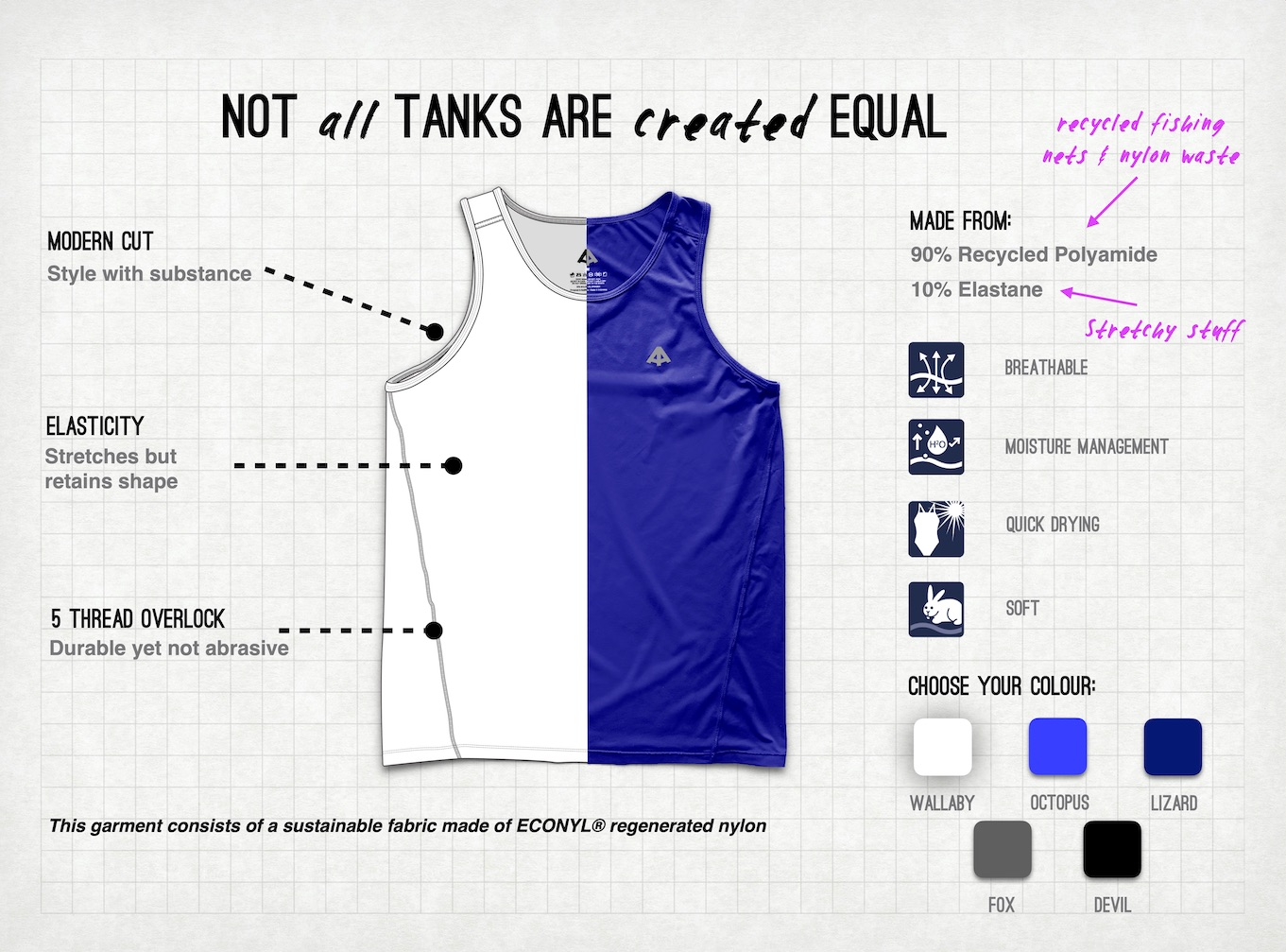 sustainable men's tank top